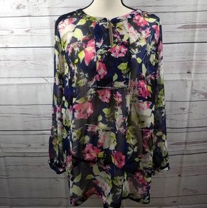 Liz Claiborne Woman Floral Long Sleeve Top